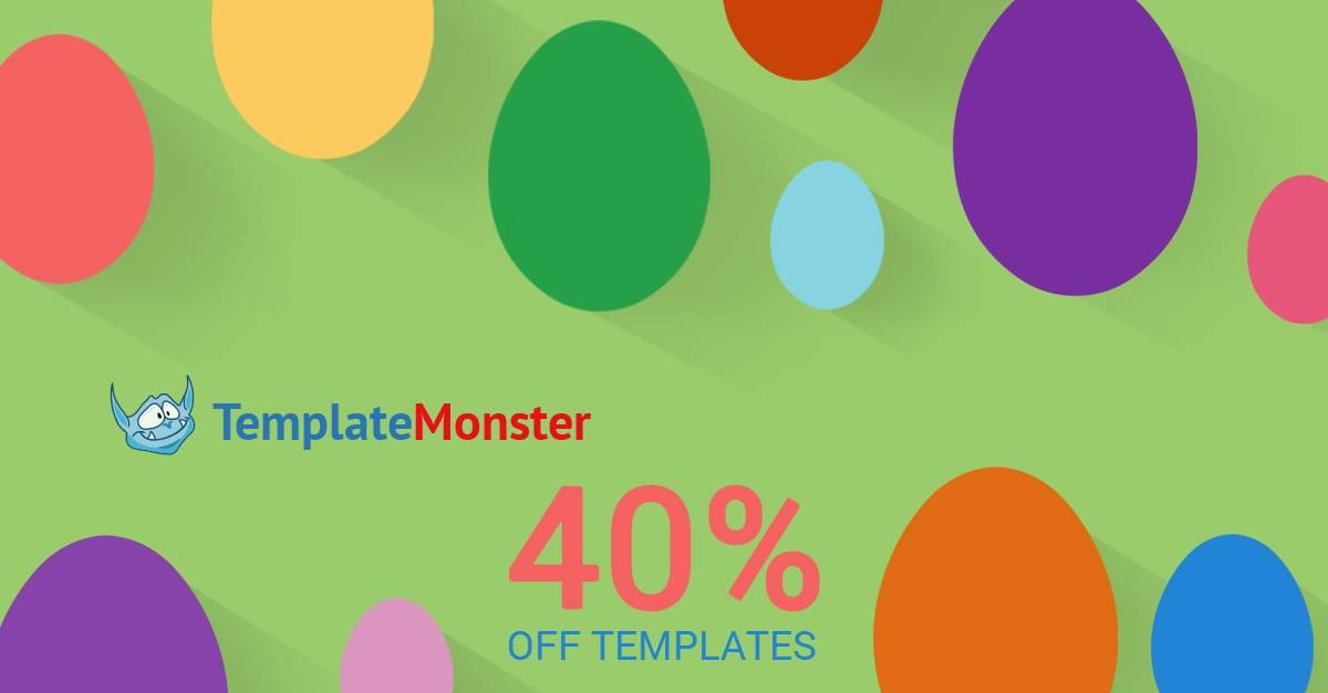 40 por ciento de descuento en todas las plantillas de TemplateMonster