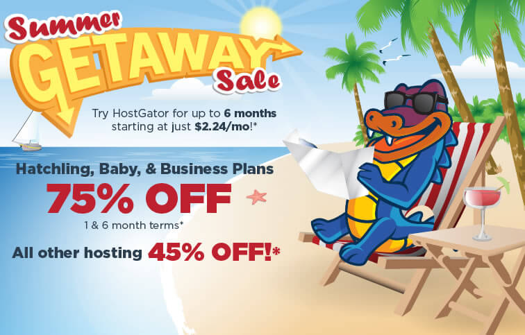Hostgator 75 % Discount in hosting - Summer sale