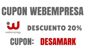 Cupones descuento Webempresa 2019
